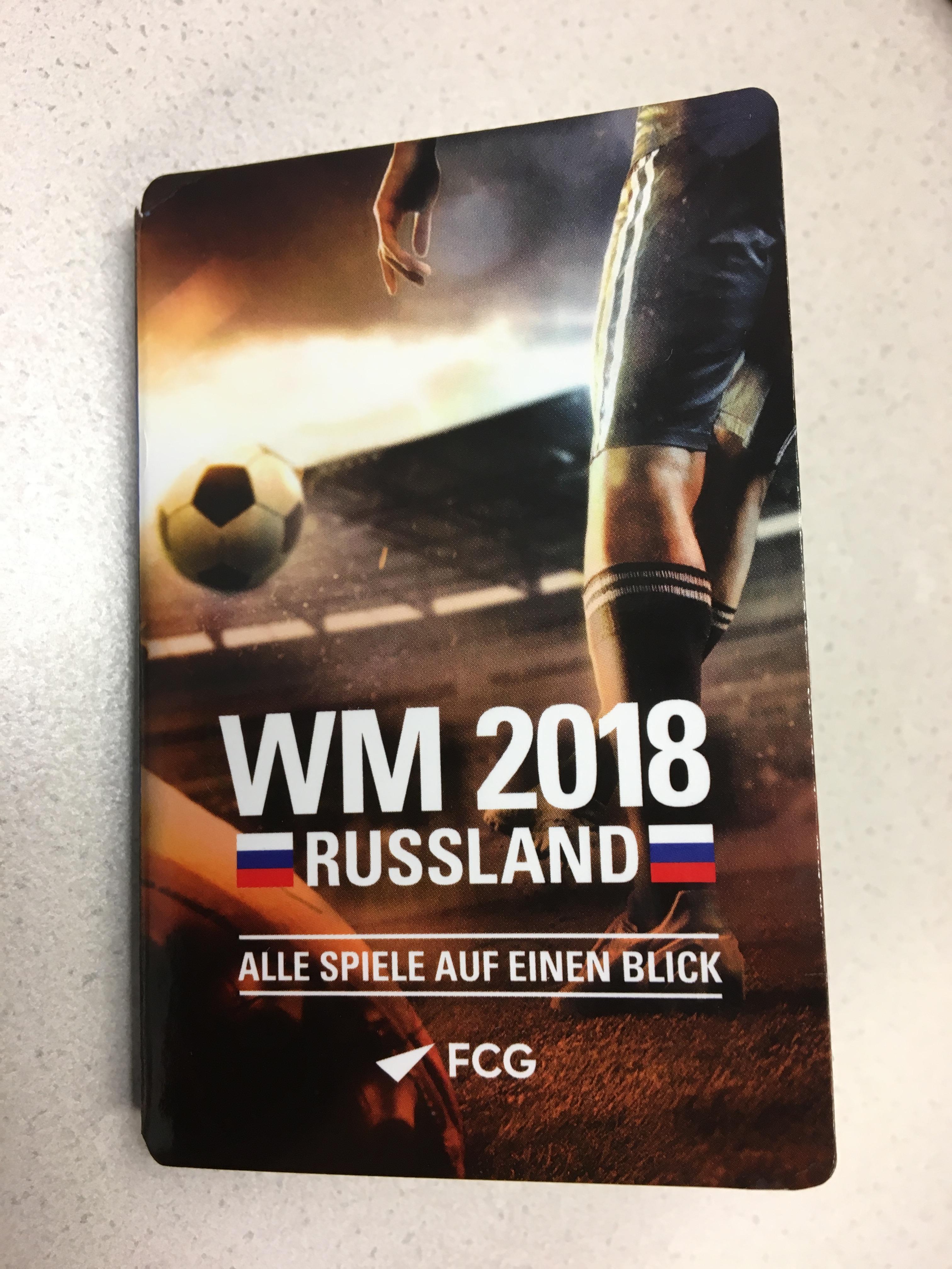 Fußball WM Folder bei uns erhältich – FCG Post